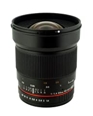 The new Rokinon 24mm F1.4 Aspherical Wide Angle Lens is available for Canon, Nikon, Sony, Pentax, Olympus & Samsung NX mounts. This manual focus lens features a large f1.4 aperture and is made of 13 elements in 12 groups. The 24mm focus i...