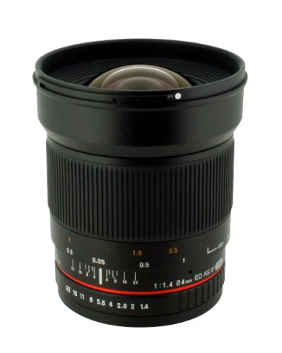 Rokinon 24mm F/1.4 Aspherical Wide Angle Lens for Canon RK24M-C (Best All Purpose Canon Lens)