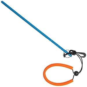 """Scuba elección de Buceo Buceo 13""""Aluminio Langosta Tickle Puntero Stick con medición y cordón, Azul"""