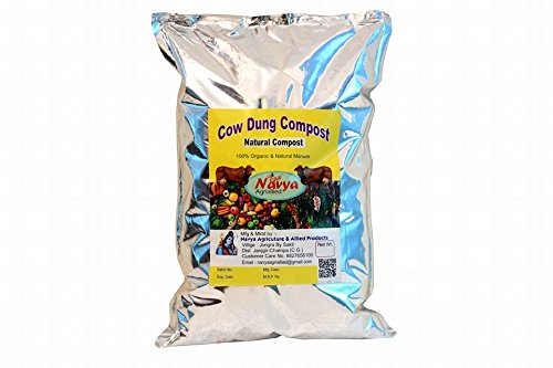 Navya Agriallied Cow Dung Compost, 1 kg (Brown)