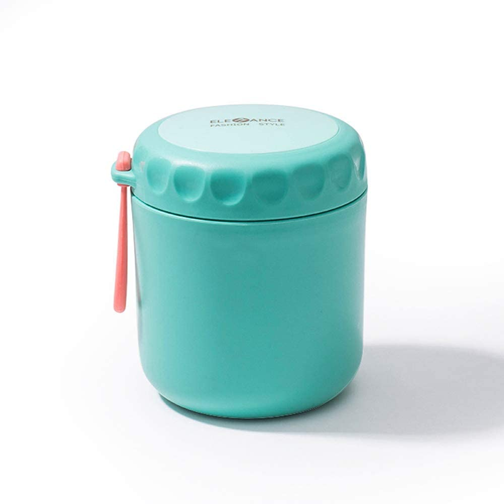 Traveling Stainless Steel Thermos, Food Tank, Vacuum Flask, Bento Lunch Box, Large-Capacity Water Cup, Suitable For School Office Picnic Outdoor Play. (17oz/500ml Green)