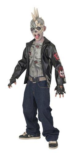 Rubies Punk Zombie Child Costume, Large, One (Punk Skeleton Kids Costumes)
