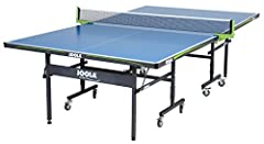 The JOOLA Outdoor Table Tennis Table is a high-quality table tennis table that can be used inside or outside, designed specifically to withstand outdoor use all year round, in all weather conditions and terrains. Featuring a 6mm aluminum plas...