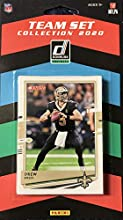 New Orleans Saints 2020 Donruss Factory Sealed 12 Card Team Set Featuring Drew Brees and Alvin Kamara Plus Cesar Ruiz and Tommy Stevens Rookies and 8 Other Cards