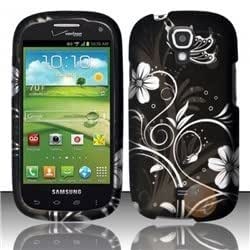 Rubberized Design Cover compatible with Samsung Stratosphere 2 i415, White Flowers