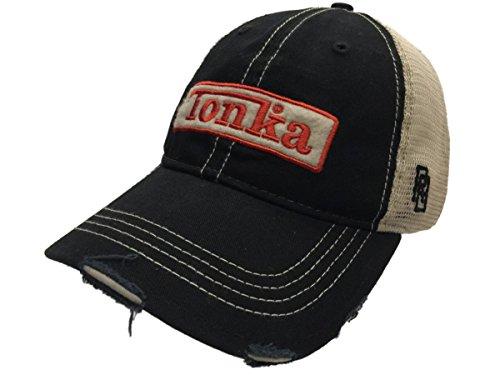 Tonka Trucks Classic Retro Brand Black Vintage Mesh Adjustable Snapback Hat Cap