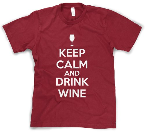 Keep Calm And Drink Wine T Shirt Funny Drinking Shirt Wine Lovers Tee L (Cabernet Sauvignon Ink)
