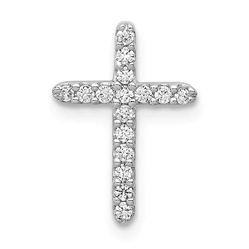 Jewelry Pendants & Charms Slides 14k White Gold Diamond Cross Pendant