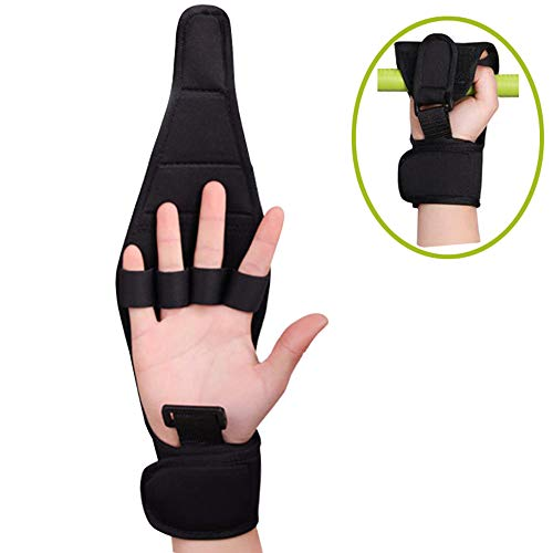 Carejoy Anti-Slip Exercise Finger Splint Brace Ability Gloves, Anti-Spasticity Rehabilitation Training, Hanging Rings, Hands & Feet Training Exercise Assisted Gloves, Ideal Stroke Hemiplegia Hand by Carejoy