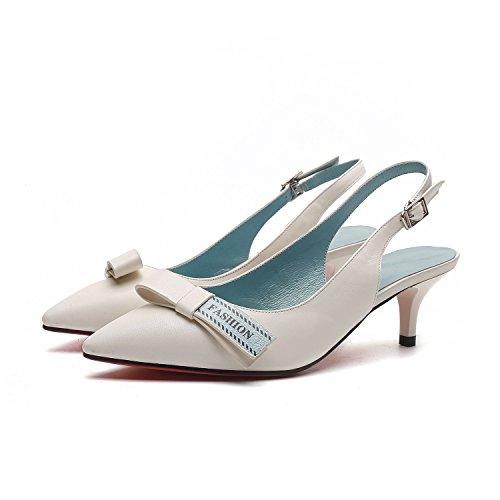 bequem heeled Luft Sandalen mit mit crema Bogen Mode Gezeiten gut hohen Schuhe wild High Absätzen Frauen vdzg11w