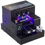 Syoon 2018 A4 tamaño pequeño Impresora UV LED con Efecto de Relieve Golf UV Impresora Plana para teléfono Caso ...