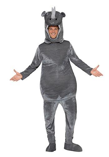 Smiffy's Adult Rhino Costume Medium Gray -