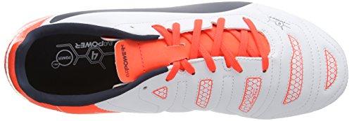 Puma evoPOWER 4.2 FG - Zapatillas de fútbol para hombre white-total eclipse-lava blast 07
