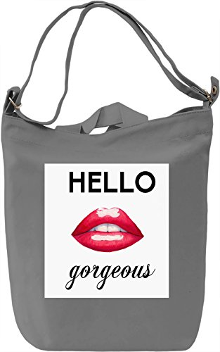 Hello Gorgeous Borsa Giornaliera Canvas Canvas Day Bag| 100% Premium Cotton Canvas| DTG Printing|
