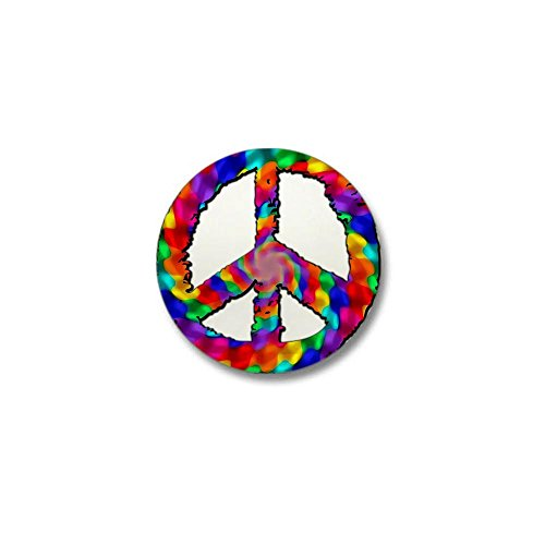 CafePress - Psychedelic Peace Sign Mini Button - 1