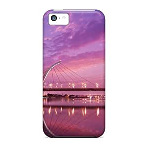 MMZ DIY PHONE CASEFor iphone 5/5s Protector Case Taipei Dazhi Bridge Sunset Phone Cover