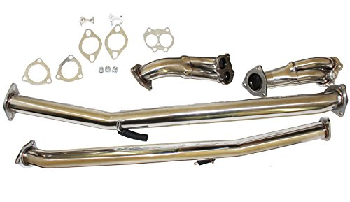 - Stainless Steel Downpipe for Nissan 90-96 300ZX Turbo 3.0L Fairlady Z32 VG30DETT