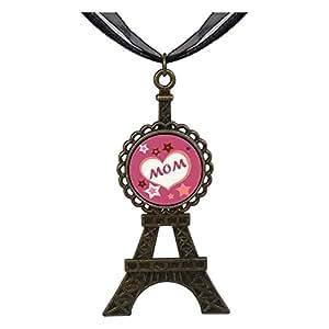 Chicforest Bronze Retro Style MOM hearts multi stars Eiffel Pendant