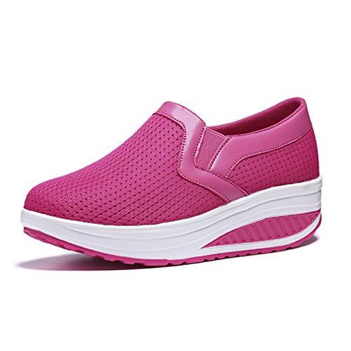 Casual Yan Nuevo La 35 Sneaker Ligero Zapatos Señoras Mujeres Salvaje Bajo Las Sacudida Zapatos Deportivos top 2019 pink De Moda H0xnH4wZ