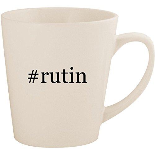 - #rutin - White Hashtag 12oz Ceramic Latte Mug Cup