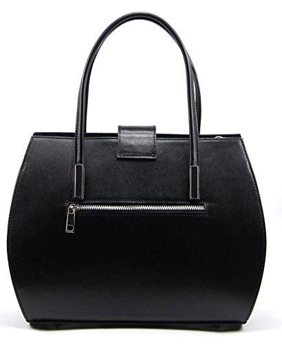 à Modèle cuir main BAG Croisette femme MY Noir OH Sac pPtqOWw