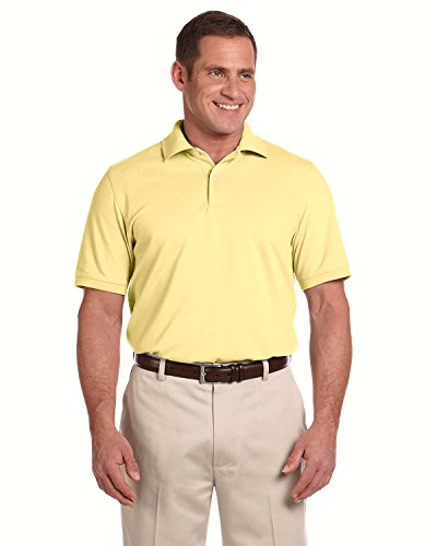 Ashworth Men's Combed Cotton Pique Polo Sport Shirt 3028C Light Yellow Small