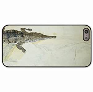 iPhone 5 5S Black Hardshell Case crocodile jaws small Desin Images Protector Back Cover