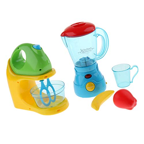 2pcs Simulation Plastic Kitchen Appliance Pretend Role Play Toy Blender & Juicer