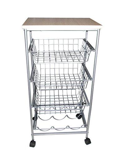 JA Marketing 4-Tier Kitchen Cart