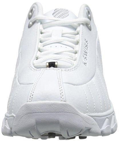 K-Swiss St329CMF de entrenamiento para hombre zapatos Blanco/Negro/Plateada