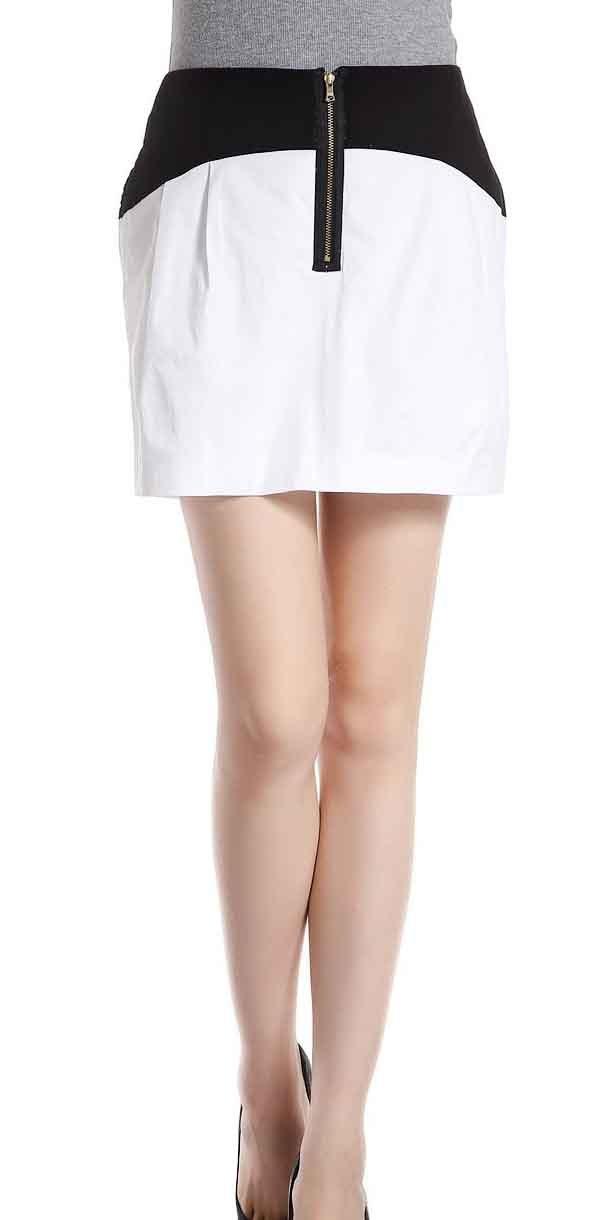 Generic Women's Zipper Slim Skirt X-Large White by Generic (Image #1)