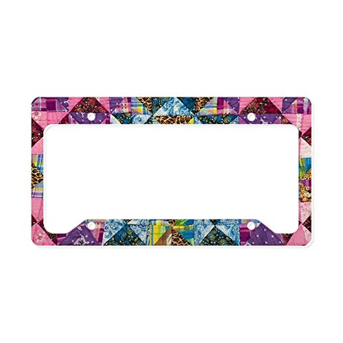 Snippets Printed (CafePress - Patchwork Pattern - Aluminum License Plate Frame, License Tag Holder)