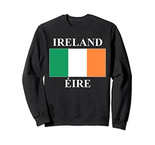 Ireland Flag Sweatshirt (Unisex Ireland Flag Sweatshirt Medium Black)