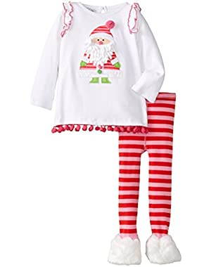 Little Girls' Tunic and Fur Legging Set