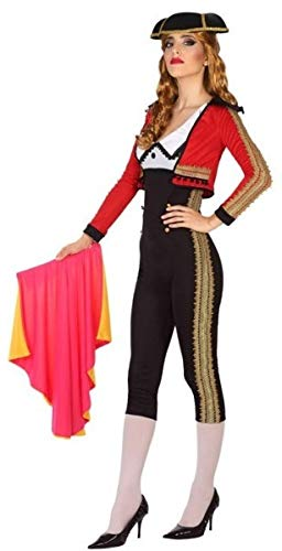 Party Stores Around Me (Ladies Sexy Spanish Matador Bull Fighter Hen Do Party Around The World Carnival Fancy Dress Costume Outfit UK 8-18 (UK 16-18 (EU)