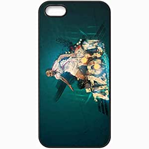 Personalized iPhone 5 5S Cell phone Case/Cover Skin Zindedine Zidane Football Federation Of France Football Black