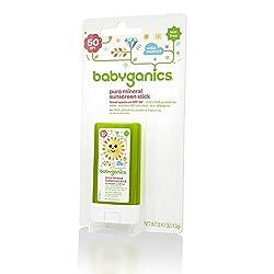 Babyganics Pure Mineral Sunscreen Stick - SPF 50+ - Fragrance Free - 0.47 oz