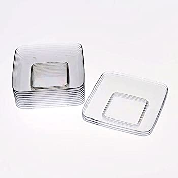 Exquisite Plastic Mini Square Appetizer Plates - 120 Ct Square plastic Dessert Plates - 2.4 Inch & Amazon.com: Exquisite Plastic Mini Square Appetizer Plates - 120 Ct ...