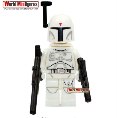 [Star War 7White Boba Fett Bounty Hunter The Force Awakens Minifigures Movies (Without Box )] (Father Son Star Wars Costumes)