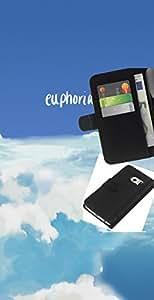 LECELL--Cuero de la tarjeta la carpeta del tirón Smartphone Slots Protección Holder For Samsung Galaxy S6 EDGE -- Euforia --