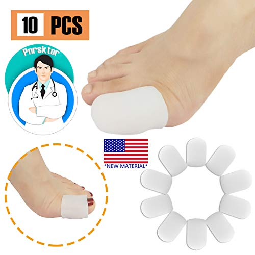Gel Toe Caps Toe Protectors Toe Sleeves, New Material, for Blisters, Corns, Hammer Toes, Ingrown Toenails, Toenails Loss, Friction Pain Relief and More (10 PCS for Big Toe) (Best Running Shoes For Ingrown Toenails)