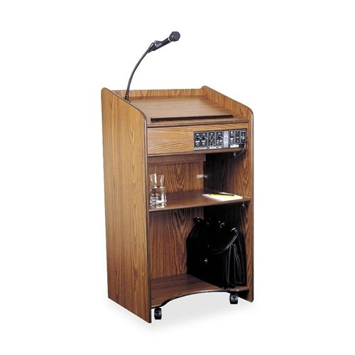 Oklahoma Sound 6010-MO Aristocrat Floor Sound Lectern, 25