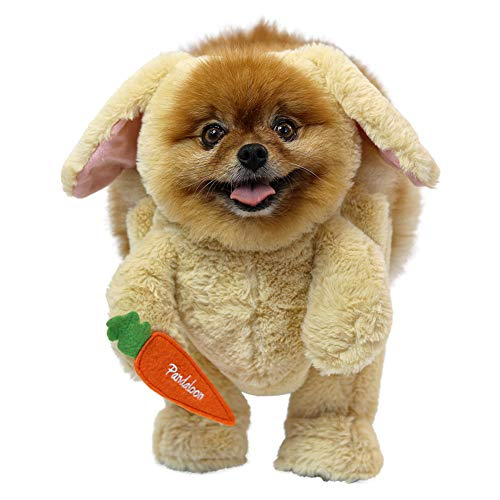 Pandaloon Bunny Rabbit Dog and Pet Halloween Costume Set - AS SEEN ON Shark Tank - Walking Teddy Bear with Arms (Size 4 (20-23.5 in Total Height), Bunny)]()