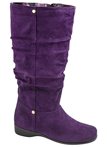 AmeriMark Women's Adult Adina Slouch Boot - Wide Calf Boots
