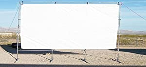 20' x 30' OUTDOOR STANDING HOME THEATER PROJECTION MOVIE SCREEN KIT ~ 1 3/8