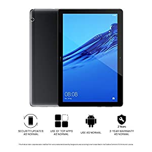 "HUAWEI MediaPad T5 – 10.1"" Android 8.0 Tablet, 1080P Full HD Display,  Kirin 695 Octa-Core Processor, RAM 2GB, ROM 16GB, Dual Stereo Speakers, 5100mAh Large Battery, Black"