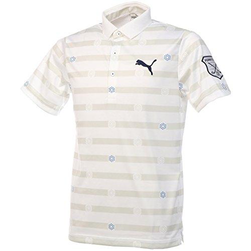 プーマ PUMA 半袖シャツ?ポロシャツ ストライプ半袖ポロシャツ