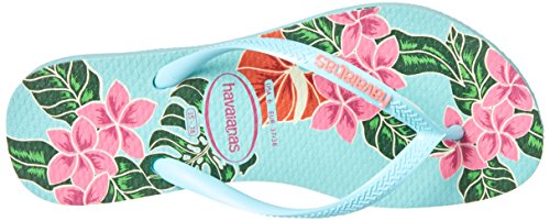 Pictures of Havaianas Women's Slim Floral Sandal Ice Blue B(M) 2