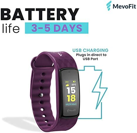 MevoFit Bold HR Fitness Band /& Smart-Fitness-Watch for Athletes /& Sports PRO ...