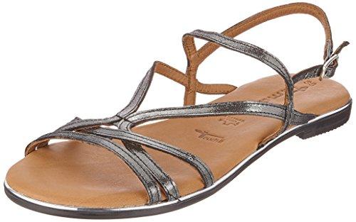 Tamaris Damer 28117 Slingback Sandaler Sort (Sort Metal) yiK0s4mR